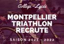 La Section triathlon jeune recrute !